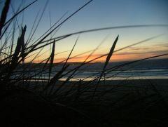 Hayle Beach (Cornwall) at sunset September 2006