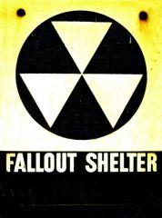 Fallout shelter sign in Lambertville, NJ
