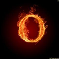 Fire Letter O