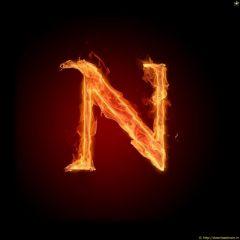 Fire Letter N (2)