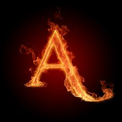 Fire Letter A (2)