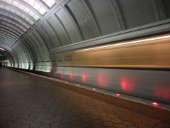Washington Subway Train - Long exposure shot